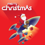 Merry Christmas and Santa Stock Illustration Royalty Free Stock Image