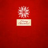 Merry Christmas Scandinavian style  knitted card Royalty Free Stock Image