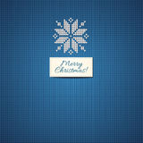 Merry Christmas Scandinavian style  knitted Royalty Free Stock Photography