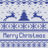 Merry Christmas. Scandinavian style seamless knitted pattern wit Royalty Free Stock Photos