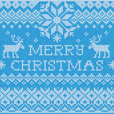 Merry Christmas: Scandinavian style seamless knitted pattern wit Stock Photography