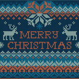 Merry Christmas: Scandinavian style seamless knitted pattern wit Stock Images