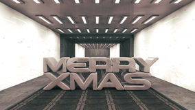 Merry Christmas 2014 SCFI. 3d design. Merry Xmas SCIFI Vector Illustration