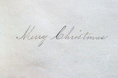 Merry Christmas script Stock Image