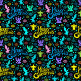 Merry Christmas  seamless pattern Stock Photos