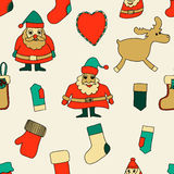 Merry Christmas. Seamless pattern. Royalty Free Stock Photography