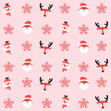 Merry christmas seamless pattern background. Christmas seamless pattern background,season greeting,happy holidays,vector background Stock Photos