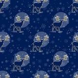 Merry Christmas seamless pattern Royalty Free Stock Photo