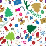 Merry Christmas seamless pattern with Christmas elements for your design. vector illustration