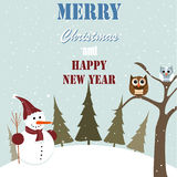 Merry Christmas. Seamless christmas pattern, greeting card Royalty Free Stock Image