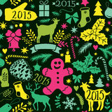 Merry Christmas seamless pattern, Happy New Year background, wra Royalty Free Stock Image