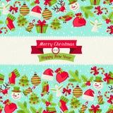 Merry Christmas seamless pattern Stock Photo