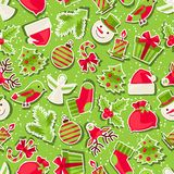 Merry Christmas seamless pattern. Merry Christmas holiday seamless pattern Stock Image