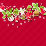 Merry Christmas seamless pattern. Merry Christmas holiday seamless pattern Royalty Free Stock Image