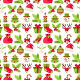 Merry Christmas seamless pattern Stock Photo