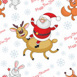 Merry Christmas seamless pattern Royalty Free Stock Images