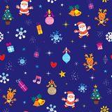 Merry Christmas seamless pattern Royalty Free Stock Photography