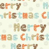 Merry Christmas seamless pattern Stock Photography