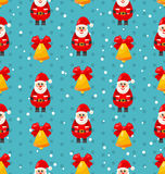 Merry Christmas seamless pattern with Santa  Royalty Free Stock Photos