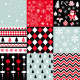 Merry christmas, seamless pattern set background Stock Image