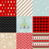 Merry christmas, seamless pattern set background Royalty Free Stock Images