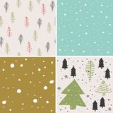 Merry christmas seamless pattern set background Royalty Free Stock Photos