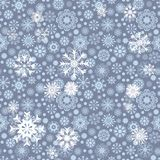 Merry Christmas seamless pattern with snowflakes. Abstract winter background. Vector illustration Royalty Free Stock Images