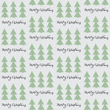 Merry Christmas seamless pattern. Christmas tree hand drawn style with calligraphy lettering elements. Simple Christmas pattern for textile, wrapping paper or Royalty Free Stock Photography