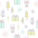 Merry Christmas seamless pattern. Vector EPS10 illustration Stock Photo