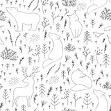 Merry Christmas seamless pattern. Vector print Royalty Free Stock Photos