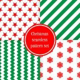 Merry Christmas seamless patterns. Royalty Free Stock Photo