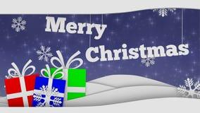 Merry christmas seamless video loop stock illustration