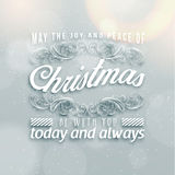 Merry Christmas Season Greetings Quote Royalty Free Stock Photography