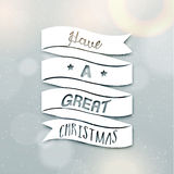 Merry Christmas Season Greetings Quote Royalty Free Stock Photo