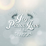 Merry Christmas Season Greetings Quote Stock Images