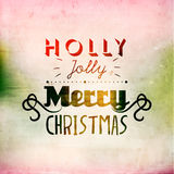 Merry Christmas Season Greetings Vector Design Stock Photography