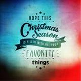 Merry Christmas Season Greetings Vector Design Stock Images