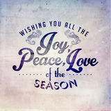 Merry Christmas Season Greetings Vector Design Stock Photography