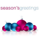 Merry Christmas. Season's Greetings bauble card in vector format royalty free illustration