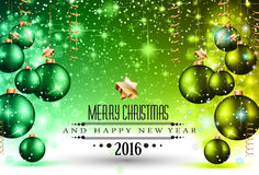 Merry Christmas Seasonal Background for your greeting cards, Stock Photography