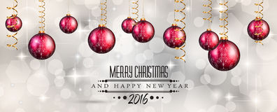 Merry Christmas Seasonal Background for your greeting cards Stock Image