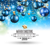 Merry Christmas Seasonal Background for your greeting cards. New Years Flyer, Chrstmas dinner invitation, posters and do on Stock Photography
