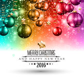 Merry Christmas Seasonal Background for your greeting cards. New Years Flyer, Chrstmas dinner invitation, posters and do on Royalty Free Stock Photo