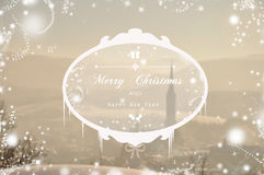 Merry Christmas. Seasonal postcard with Christmas wishes Royalty Free Stock Photos