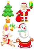 Merry christmas set. Merry christmas happy news year set 2011 stock illustration
