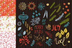 Merry Christmas set Royalty Free Stock Photography