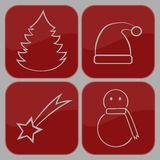 Merry Christmas. Set of icons on a theme Merry Christmas Stock Photo