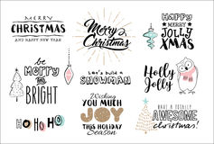 Merry Christmas royalty free illustration