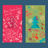 Merry christmas set of xmas Greeting Cards. Royalty Free Stock Photography