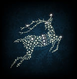 Merry Christmas shine deer. Vector illustration Royalty Free Stock Images